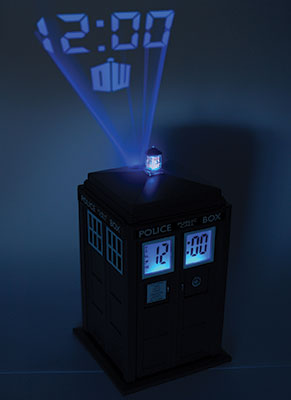 Dr who 50th anniversary collectables - Tardis alarm clock ...